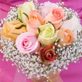 3 Premium Assorted Color Classic Rose Bridesmaids Bouquets