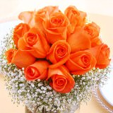 6 Stunning Wedding Centerpieces with Orange Roses                                                              For Delivery to Oregon