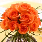 6 Alluring Wedding Centerpieces with Orange Roses                                                              For Delivery to Minnesota