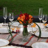 3 Wondrous Wedding Centerpieces with Red & Orange Roses