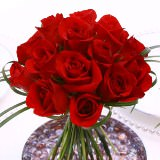 3 Wedding Centerpieces with Red Roses & Calla Lilies
