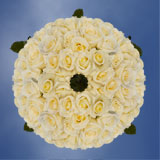 250 Stems of White with Pale Yellow Center, Blizzard Roses
