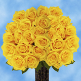 75 Long Stem Assorted Yellow Roses