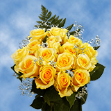 3 Dozen Yellow Roses & Fillers                                                              For Delivery to Virginia