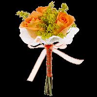 Orange Roses & Solidagos Wedding Nosegays For Delivery to Pueblo, Colorado