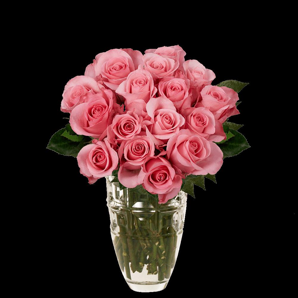 Pink Roses Arrangement Pink Bouquet Vase   GlobalRose