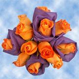 14 Vibrant Orange Roses Wedding Centerpieces                                                              For Delivery to Washington, Pennsylvania