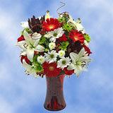 1 Christmas Garden Arrangement with Vase                                                              For Delivery to Kirkland, Washington