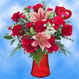 1 Wink Wink! Valentine's Day Vase                                                              For Delivery to Alaska