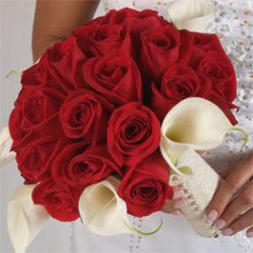 Red Rose Wedding Bouqet.Bridal Online Flower Wedding Bouquet