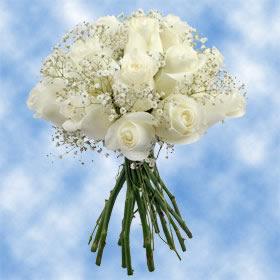 Arrangements white roses babys breath centerpieces globalrose flower arrangements white roses babys breath centerpieces mightylinksfo