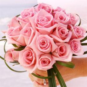 Order Romantic Bridal Rose Bouquets Light Pink Roses ...