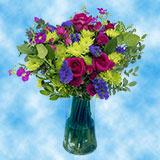 1 Summer Nights Arrangement with Vase                                                              For Delivery to Pueblo, Colorado