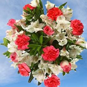 018e719658 Wedding Table Centerpieces Pink White Carnations Arrangements ...